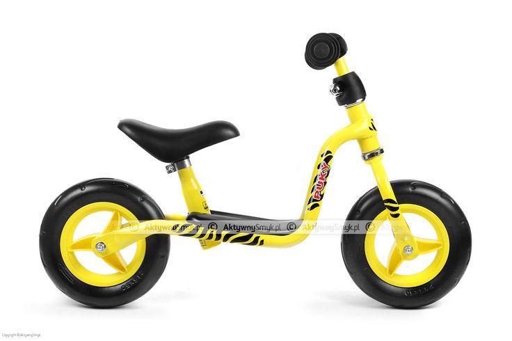Żółta rama, żółta kierownica, żółte koła... i czarne tygrysie pręgi to rowerek biegowy Puky LR M w nowej odsłonie.