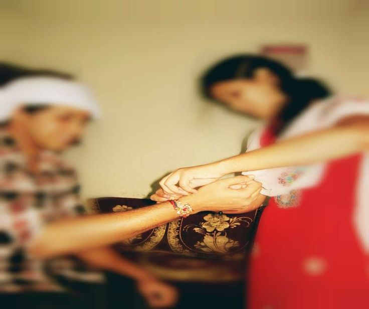 """""""Raksha Bandhan"""" symbolizes the sister's love and prayers for her brother's well-being, and the brother's lifelong vow to protect her.    http://www.indiaataglance.com/blog/raksha-bandhan-in-the-history-of-india/    #RakshaBandhan #India #IndiaAtaGlance"""