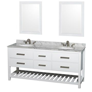 Images On Natalie Double Bathroom Vanity by Wyndham Collection White