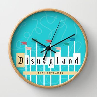 retro disneyland park entrance clock