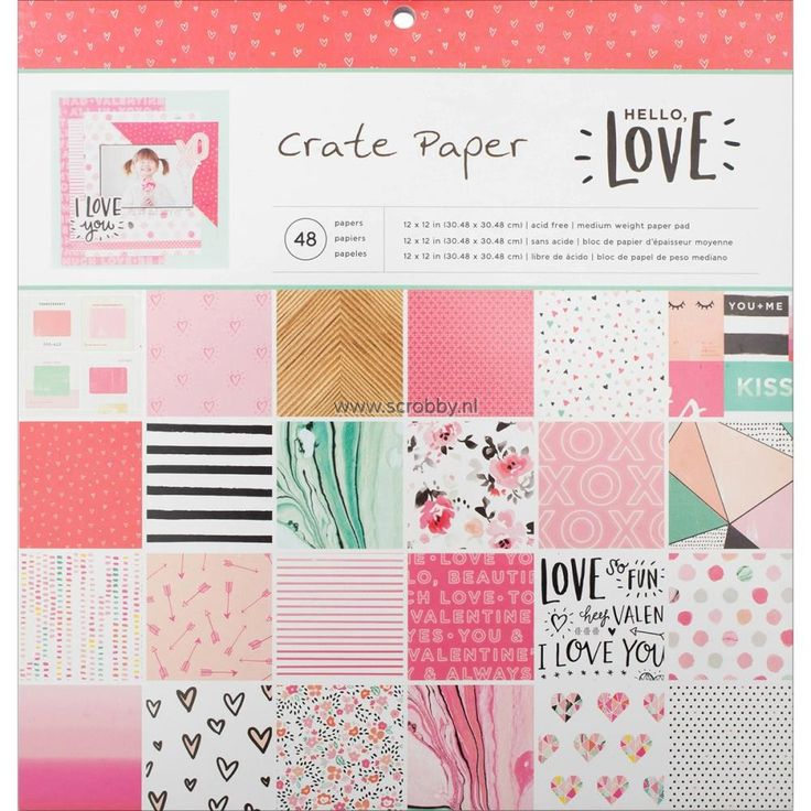 Crate Paper Hello Love Paper Pad 12x12 | €13.13