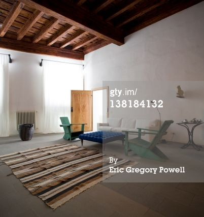 Stock-Foto : open living room with carpet, loft apartment