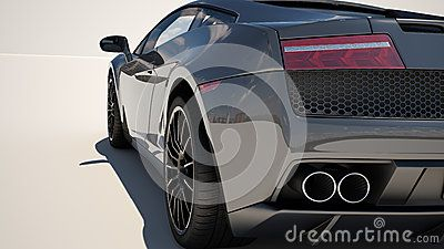 Sport supercar on a light background, the bright sunlight