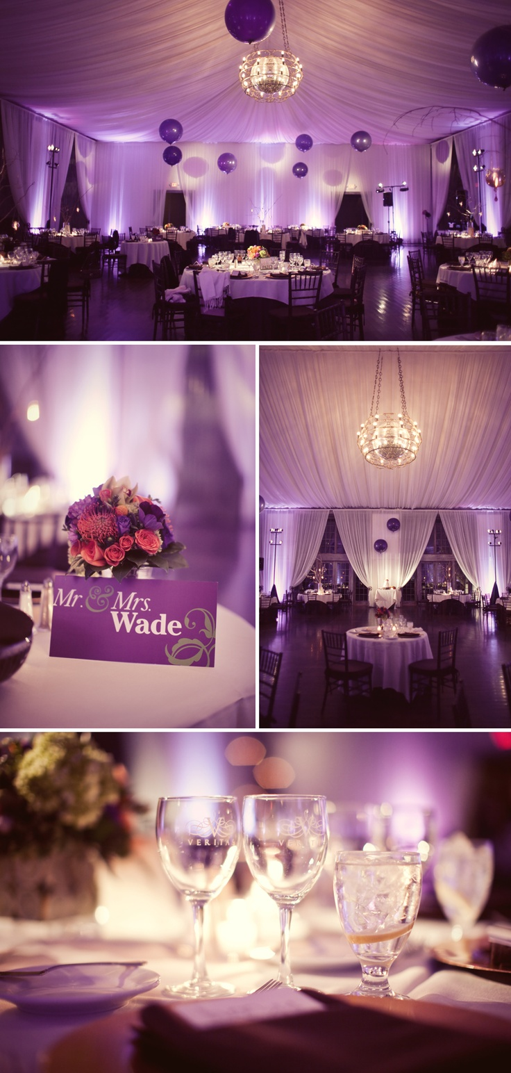 purple wedding reception!!! yes please!!                                                                                                                                                                                 More