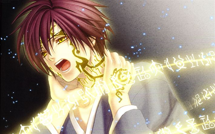 Download wallpapers Shinji Inukai, 4k, manga, Scarlet Crystal, Hiiro no Kakera