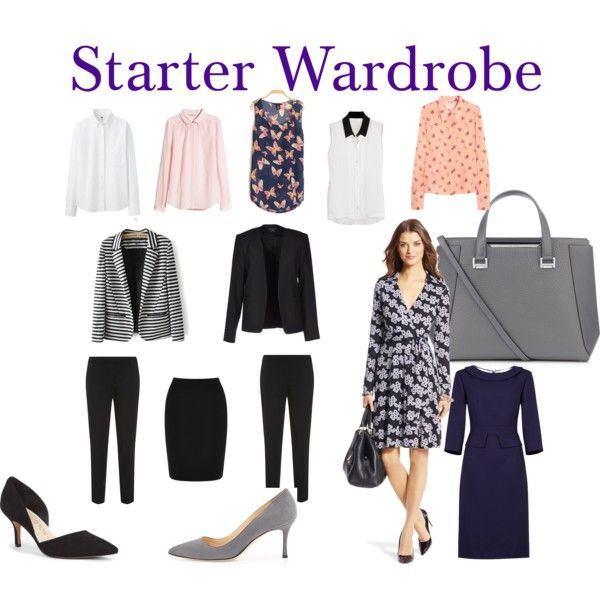 My #1 Pin. Starter Work Wardrobe Essentials for wardrobe building: 4 shirts, 2 blazers, 2 pants, 1 skirts, 2 dresses, 2 pumps, 1 great bag #WorkWear #OfficeEssentials @accessiblestyle