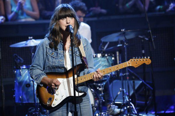 Eleanor Friedberger performing on Jimmy Fallon