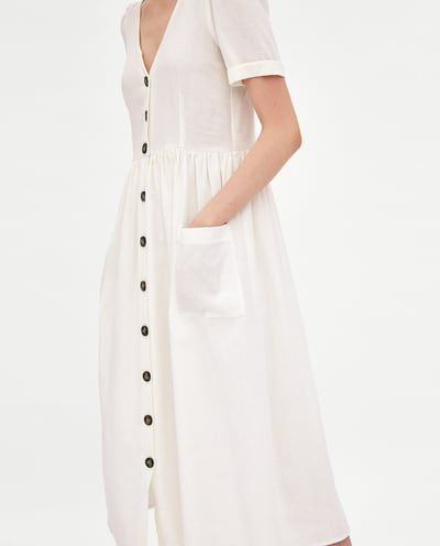 9dfd2fcbe8 MIDI DRESS WITH BUTTONS-Midi-DRESSES-TRF