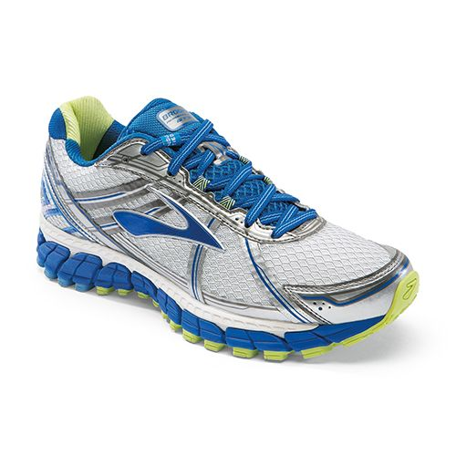 Brooks Adrenaline GTS is an athletic shoe that helps provide support for  women with flat feet. It comes in several colors and you can find it at  Lucky Feet ...