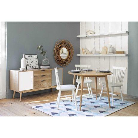 Credenza bianca e grigia vintage in legno L 145 cm Fjord   Maisons du Monde