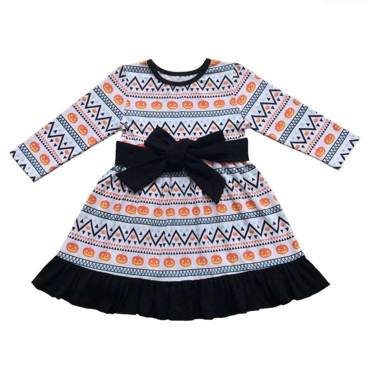 Newborn Baby Twin Girls Halloween Thanksgiving Turkey Long Sleeve Dress Skirt  #dress #turkey #thanksgiving