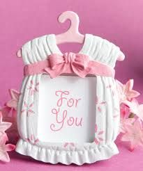 Baby Photo Frame in Pink Christening Bomboniere
