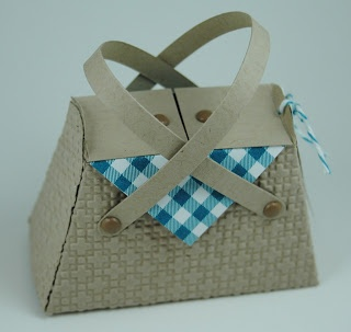 Stampin' Up! Petite Purse by Lauras Works of Heart: Picnic Basket