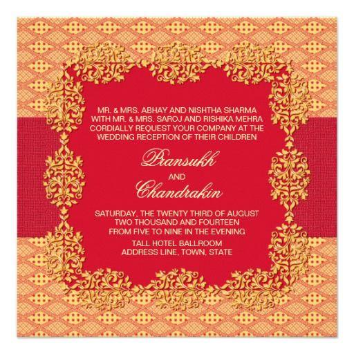 Indian Wedding Reception Invitation Wordings: 20 Best Indian Wedding Invitation Cards Images On