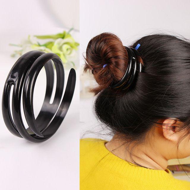 Mujeres Magia Plástico PVC Dispositivo Quick Messy Bun Hairbands Pelo Headwear Accesorios Del Pelo para Las Mujeres y Las Niñas