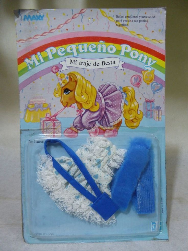 "Vintage "" My Party dress"" outfit. My Little pony.G 1.HASBRO.MAXI.PERU.NIP."