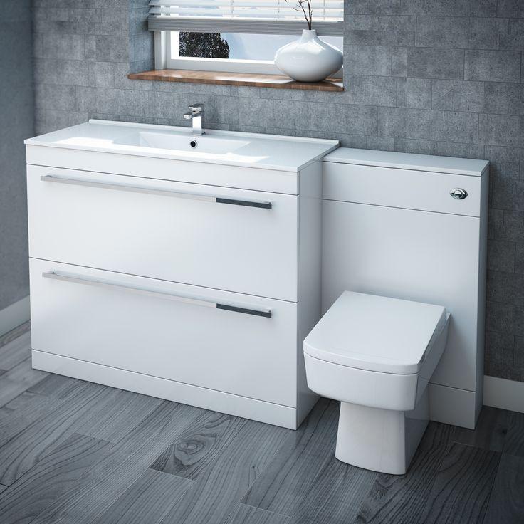 Nova High Gloss White Vanity Bathroom Suite