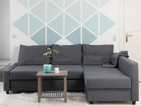 DIY Anleitung: Geometrische Wand Mit Dreiecken Streichen Via DaWanda.com