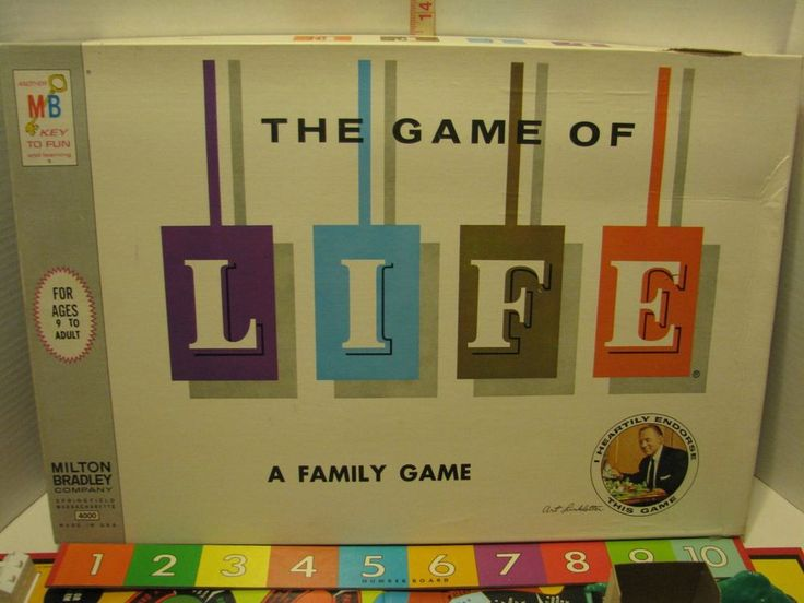 Vintage Game of Life Board Game Milton Bradley 1960 Art Linkletter on Front  #MiltonBradley