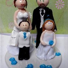 figurine famille personnalisable pour votre gteau de mariage - Figurine Gateau Mariage Personnalis