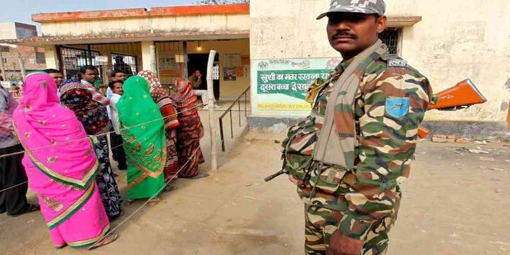 "Top News: ""INDIA POLITICS: Indians Headed to The Polls"" - http://politicoscope.com/wp-content/uploads/2017/03/A-soldier-stands-guard-as-people-queue-to-cast-their-vote-during-the-state-assembly-election-in-Gorakhpur-India-Indians-Indian-India-Election-News.jpg - Indians headed to the polls on Wednesday, the biggest mid-term verdict on Prime Minister Narendra Modi since he stormed to power three years ago.  on World Political News - http://politicoscope.com/2017/03/08/india-po"