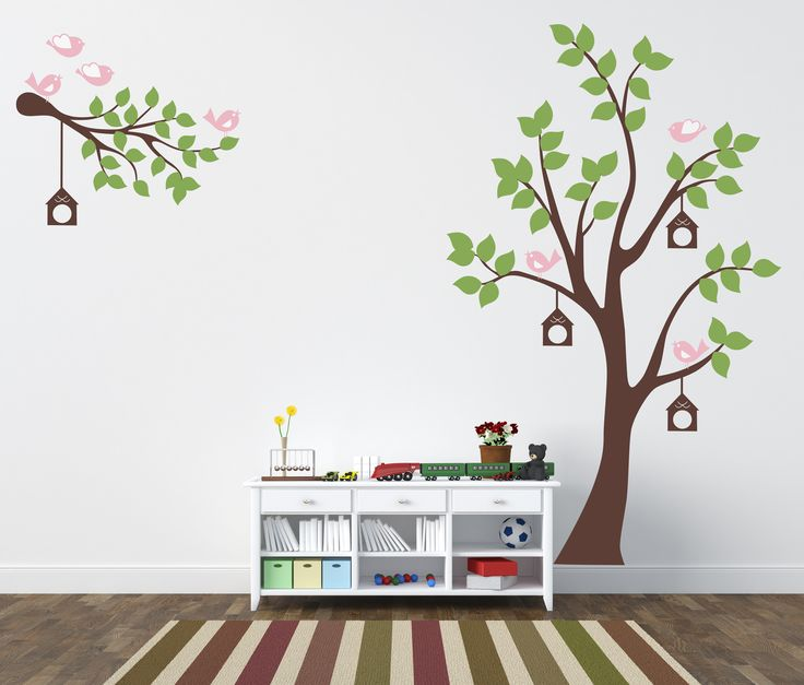 Ağaç Ve Kuşlar Bebek Ve Çocuk Odası Renkli Duvar Sticker Fİyat: 134 TL