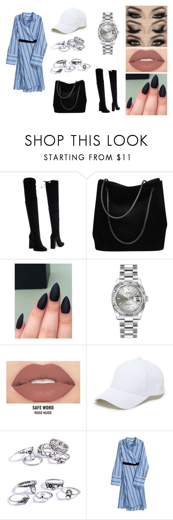 """090417"" by hazelozcan on Polyvore featuring moda, Bianca Di, Gucci, Rolex, Smashbox ve Sole Society"
