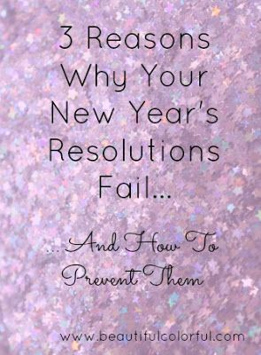 Start the new year right! Find out the reasons why your new years resolutions fail and learn how to prevent them