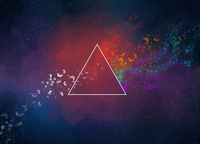 Space Art Abstract Colorful Digital Art Butterfly Triangle Wallpaper Abstract Wallpaper Abstract Space Art