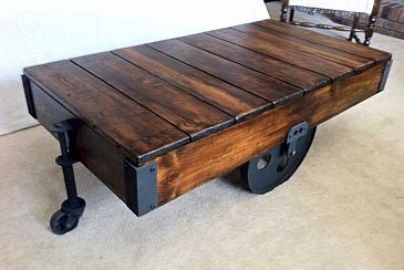 DIY Factory Cart Coffee Table – Coffee Table – Ide…