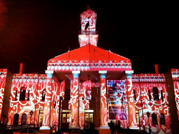 Richmond Town Hall 2012 Christmas Projections by Nick Azidis.     Photo by @psaltopoulos    http://www.yarracity.vic.gov.au/hot-topics/richmond-town-hall-to-light-up-the-night/