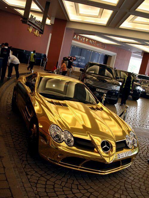 Rollin In Da Gold Car