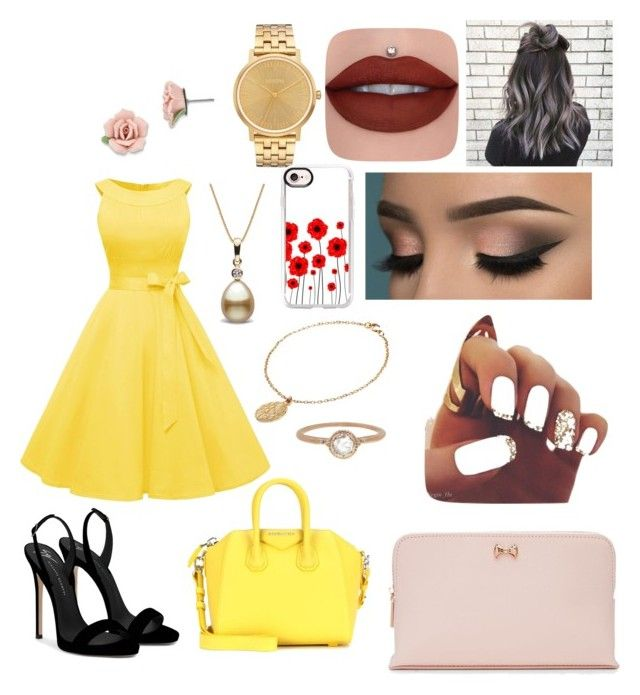 """""""Belle Fancy Dress"""" by fvw-ok-03 on Polyvore featuring Nixon, Giuseppe Zanotti, Givenchy, Casetify, CINDERELA B, 1928, Megan Thorne and Ted Baker"""