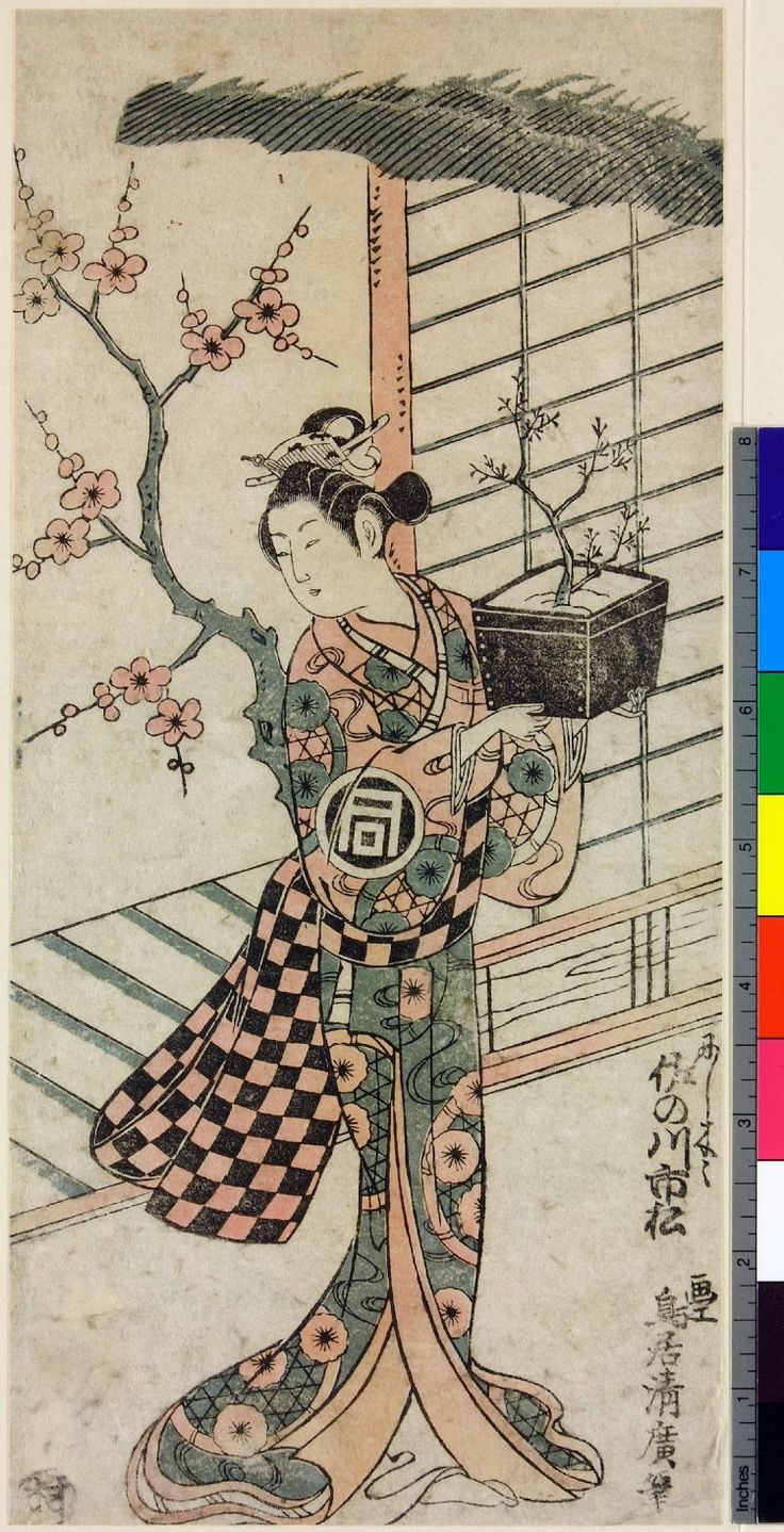 Sanogawa Ichimatsu (佐野川 市松) the kabuki actor who inspired 'Ichimatsu' designs