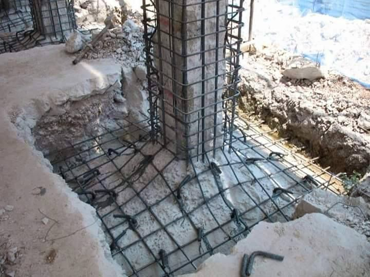 La remodelación de columnas para viejos edificios a ser  reforzados.