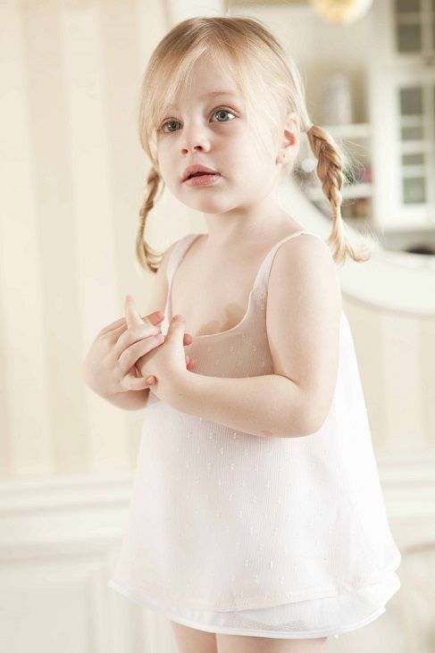 Maria posing for Lina Baby #cute #kids #clothing #ladopana #baptism