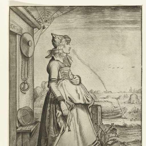 Habitus et cultus Matronarum Nobilu et Rusticarum (Clothing and Manners of Noblewomen and Countrywomen), Adriaen Matham (possibly), after Willem Pietersz. Buytewech, 1619 - 1623 - Rijksmuseum