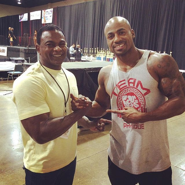 @ifbbpromichaelferg  congratulations to my guy @evolvingphysique for winning 1st place men's physique at the costal usa!!! he is now olympia bound :trophy:  #ifbbpromichaelferguson #mensphysique #olympia2015 #fitness #motivated #ifbbpro #focused #olympiab