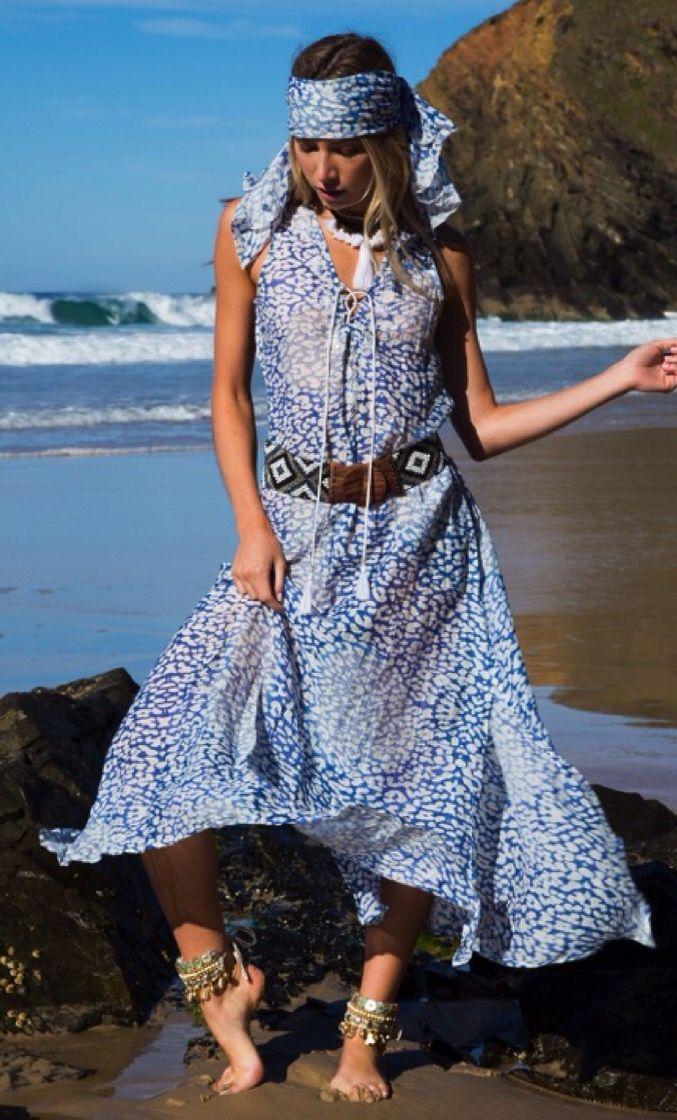 Maxi skin rope dress