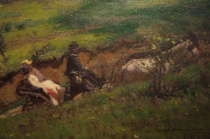Iványi Grünwald Béla: Tavaszi kirándulás, részlet, 1903, olaj, vászon, 112 x 176 cm