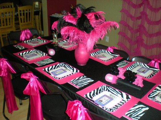 My daughter's 8th birthday - Rockstar Diva table.