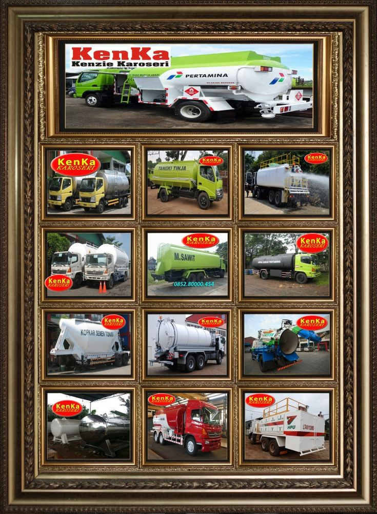 Mobil & Truck Tangki Kimia Limbah Beracun Karoseri