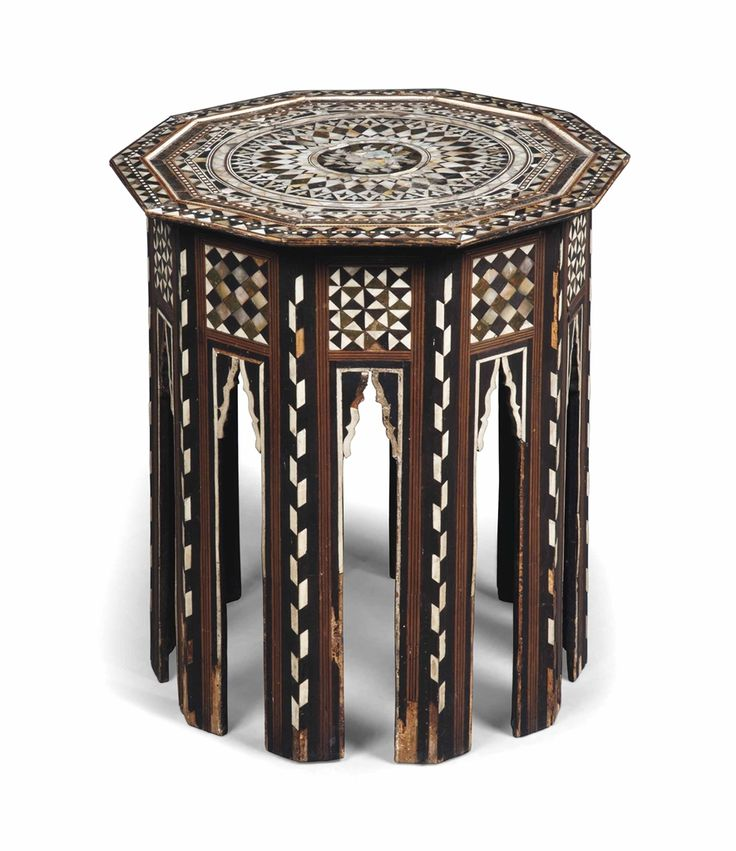 An Ottoman mother-of-pearl octagonal table, early 19th century