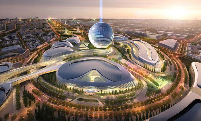 Kazachstán staví ekologické výstaviště na Expo 2017