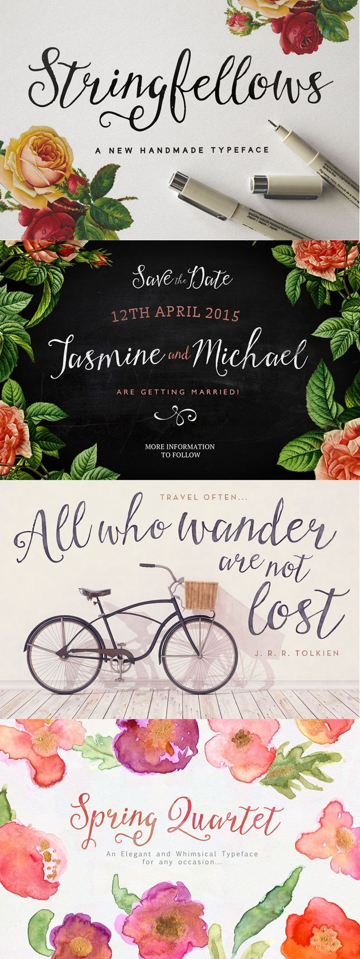 cursive fonts for wedding cards%0A Stringfellows is a script font prefect particularly for typographical quote  posters   and wedding