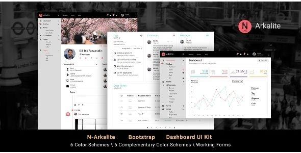 Download N-Arkalite - Responsive Bootstrap 4 Admin Template