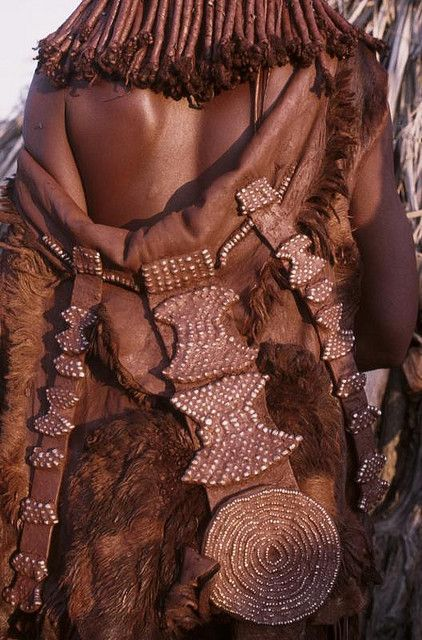 Africa | Beautiful details from a Himba woman.  Namibia | ©Georges Courreges