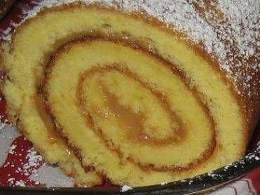 Rocambole de doce de leite - Massa do pão de ló::  6 ovos,   1 xícara de chá de açúcar,   6 colheres de sopa de farinha de trigo,   1 colher de sopa de pó Royal,