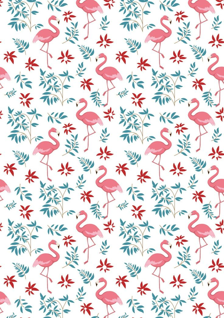 Leaves Pink Flamingo