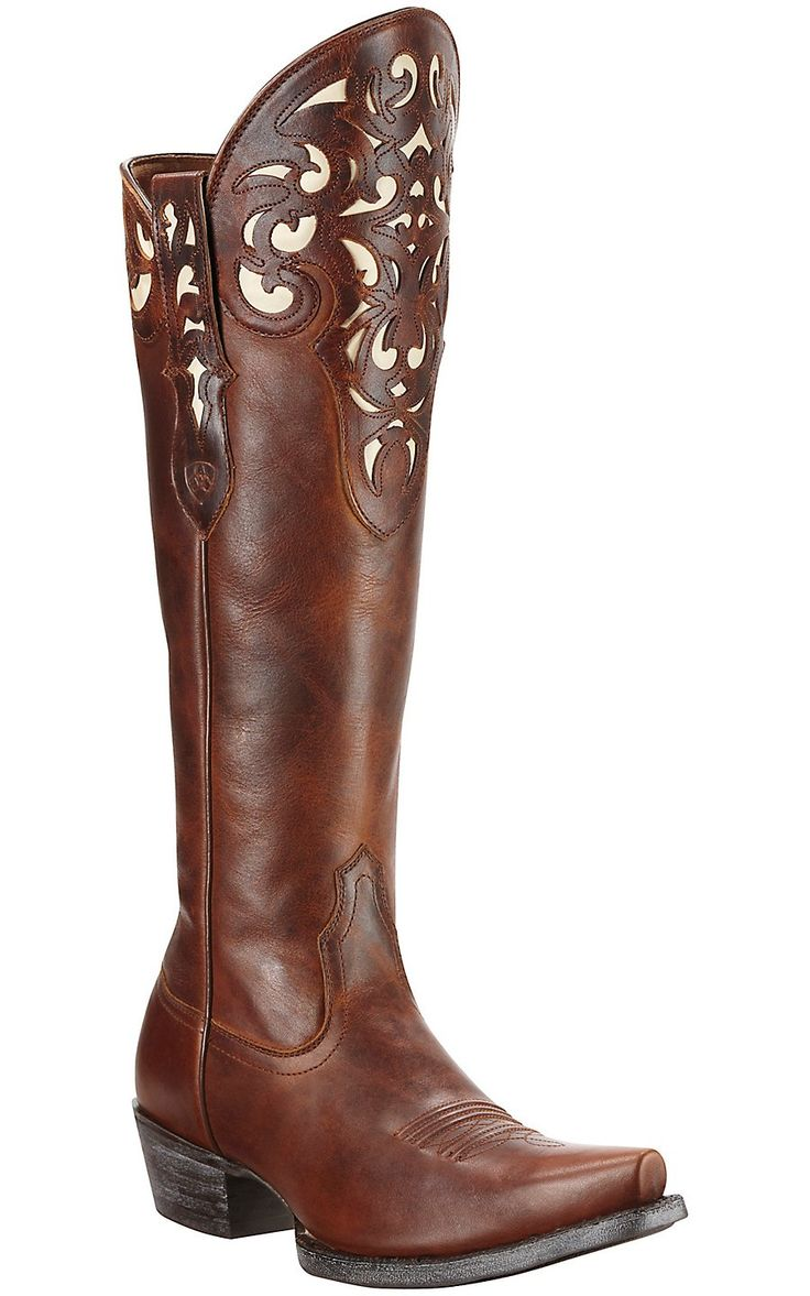 Ariat® Hacienda™ Women's Vintage Caramel Tall Top Snip Toe Western Boots | Cavender's Boot City